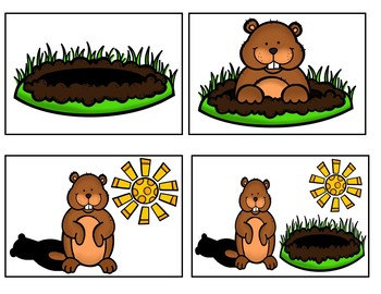 Five Little Groundhogs  (A Counting Pocket Chart Activity)