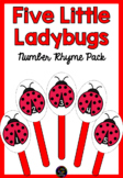 Five Little Ladybugs Number Rhyme & Puppets