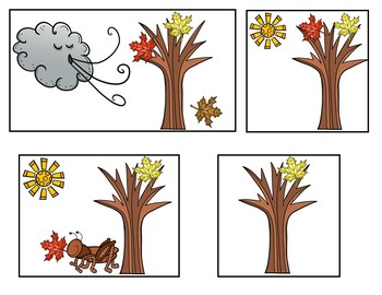 Five Little Leaves  (A Counting Pocket Chart Activity with Student Books)