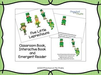 Five Little Leprechauns Interactive Book and Emergent Reader