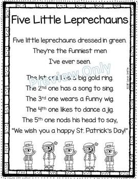 Five Little Leprechauns - St. Patrick's Day Poem for Kids