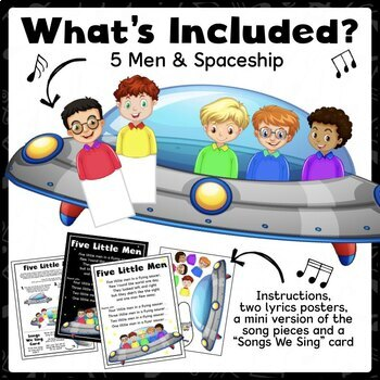 Five Little Men Song (Songs, Circle Time, Puppets, Counting, Space)