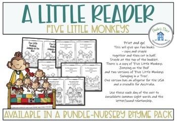 Five Little Monkeys by Paula's Place | Teachers Pay Teachers