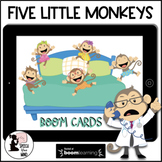 Five Little Monkeys Boom Cards™ Story, Concepts & Questions Distance Learning
