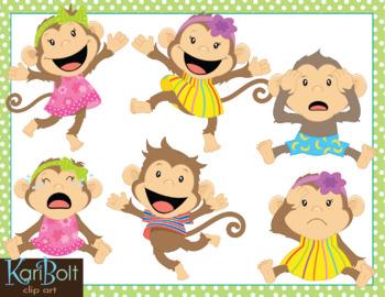 Five Little Monkeys Clip Art
