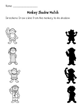 Five Little Monkeys Common Core Aligned No Prep Worksheets