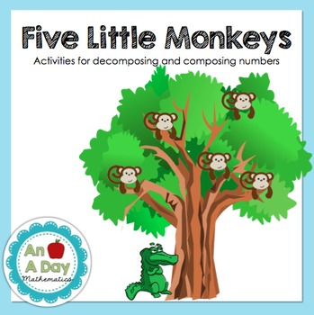 Composing & Decomposing Numbers with the Five Little Monkeys
