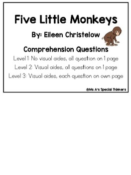 Five Little Monkeys Comprehension Questions
