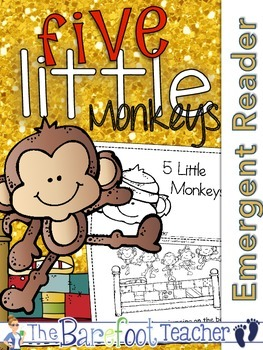 Five Little Monkeys Emergent Readers (2) & Colorful Class Book {Nursery Rhymes}