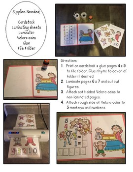 Five Little Monkeys File Folder Game