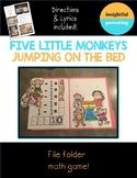 Five Little Monkeys File Folder Game