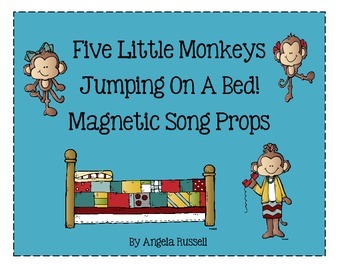 Five Little Monkeys Jumping On A Bed ~ Magnetic Song Props