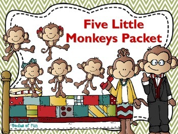Five Little Monkey's Jumping On The Bed Packet