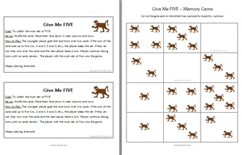 Five Little Monkeys Jumping on the Bed - Poem and Math Activities