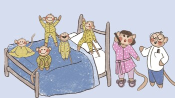 Five Little Monkeys Jumping On The Bed Green Screen Video Background