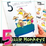 Five Little Monkeys Jumping on the Bed Interactive Book for Speech Therapy