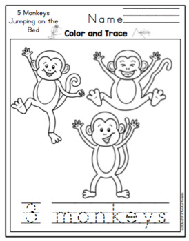 Five Little Monkeys Jumping on the Bed Printable