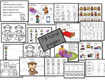 Five Little Monkeys Language Development Activities
