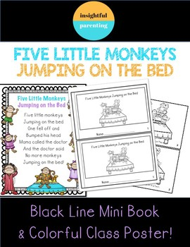 Five Little Monkeys Mini Book and Class Poster