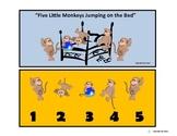 Five Little Monkeys Modified Comprehension Questions for Autism