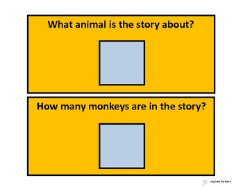 Five Little Monkeys Modified Comprehension Questions for Autism