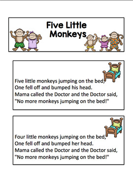Five Little Monkeys Pocket Chart