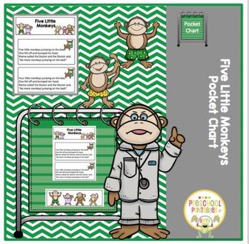 Five Little Monkeys Pocket Chart Activity