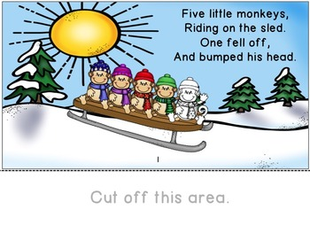 Five Little Monkeys Riding on the Sled:  An Interactive Book