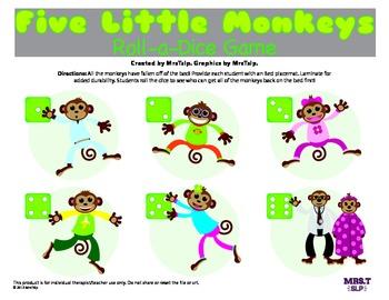 Five Little Monkeys Roll a Dice Reinforcer