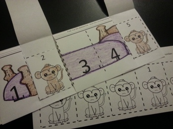 Five Little Monkeys fell of the bed SPANISH Counting 1-5 Activ. C-scope Com.Core
