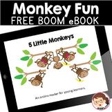 Five Little Monkeys | SPED Autism Preschool | Boom Cards (TM) eBook