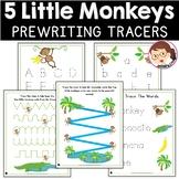 Five Little Monkeys | SPED Autism Preschool | Pencil Control Worksheets