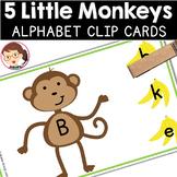 Five Little Monkeys | SPED Autism Preschool PreK | Alphabet Clip Cards