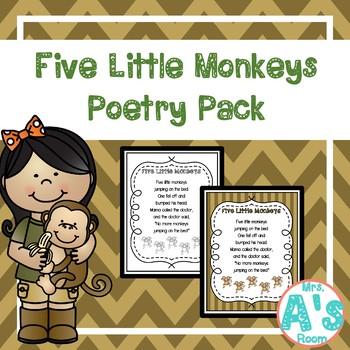 Five Little Monkeys Shared Reading Set