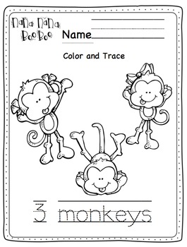 Five Little Monkeys Swinging in a Tree Printable