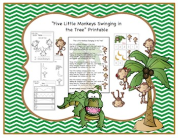Five Little Monkeys Swinging In A Tree Printable
