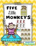 Five Little Monkeys Ten Frame Game