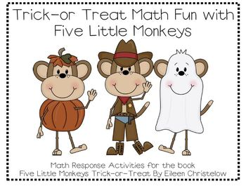 Five Little Monkeys Trick-or-Treat Math Fun