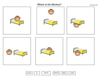 Five Little Monkeys Visual Conversation Board