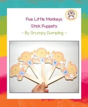 Five Little Monkeys Stick Puppets