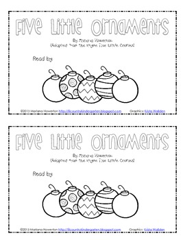 Five Little Ornaments Subtraction Emergent Reader and More Christmas ELA Math