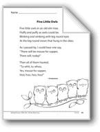 Five Little Owls (A poem)