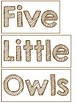 Five Little Owls Poem and Pocket Chart Activity