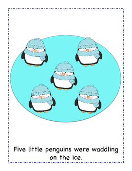 Five Little Penguins (FREE color version)