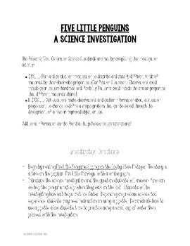 Five Little Penguins Science Investigation
