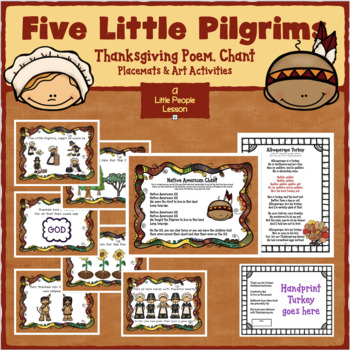 Five Little Pilgrims, a Thanksgiving Poem for Preschoolers to act  out