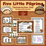 FIVE LITTLE PILGRIMS: a Thanksgiving Poem for Preschoolers to act  out