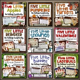 Five Little Poems BUNDLE -- 9 Poem Craftivities with Stick Puppets & Story Props