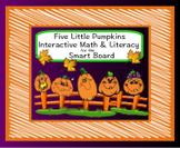 """Five Little Pumpkins"" Smart Board Literacy & Math Common Core Activities"