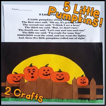 Five Little Pumpkins! October Kindergarten, First Grade, Second Grade